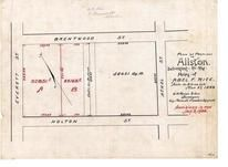 Abel F. Rice 1894 Revised 1908, Allston 1890c Survey Plans